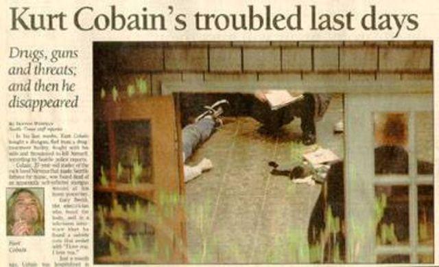 Kurt Cobain Found Dead in Home