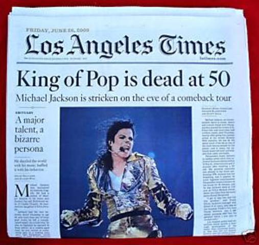 Michael Jackson found dead in home