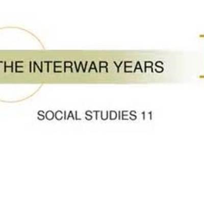The Inter-War Period timeline