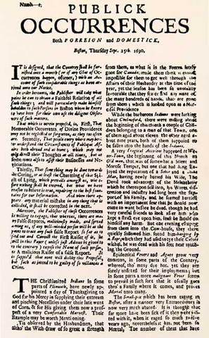 first american newspaper
