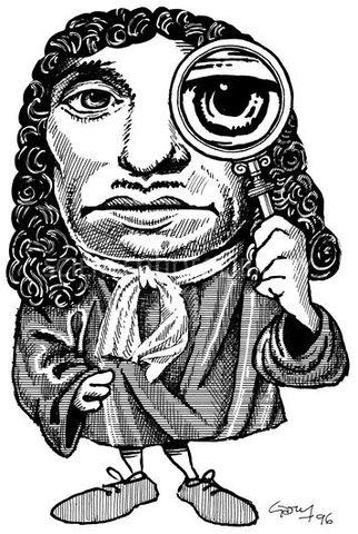 Anton Van Leeuwenhoek observó las primeras bacterias con un microscopio de lente simple diseñado por el mismo.