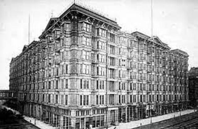 Construccion del Palace Hotel