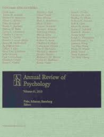 Revisión del Annual Review of Psychology