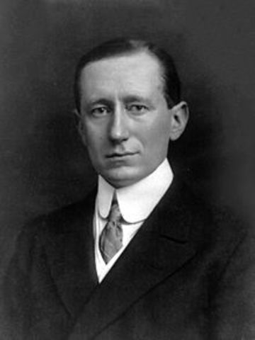 Marconi sends first radio signal