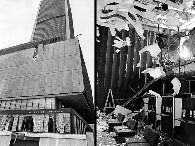 FLQ bombs Montréal Stock Exchange