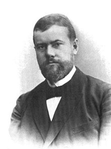 Karl Emil Maximilian Weber born; Erfurt, Germany