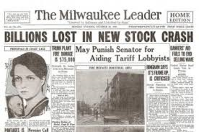 Wall Street Stock Market Crash