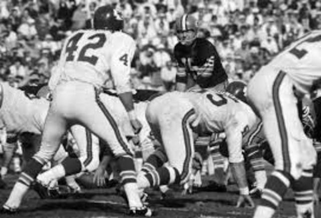 The 1st super bowl between the Green Bay Packers and the Kansas City Cheifs