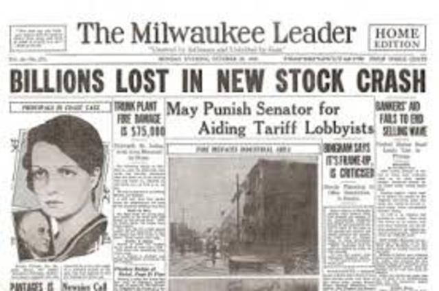 The Stock Market Crash of 1929