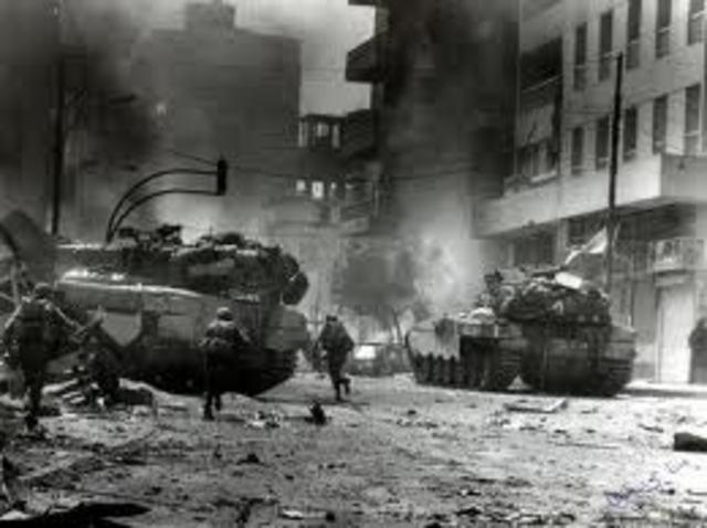 Comenzó la guerra del Líbano