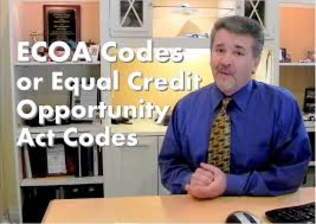 Equal credit oppurtunity act