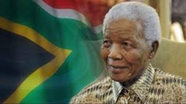 Nelson Mandela word aangekondig as President