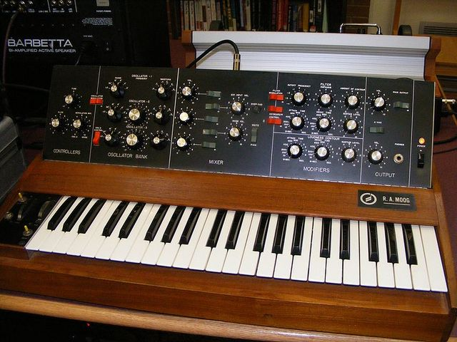 The first musical synthesizer invented by RCA.