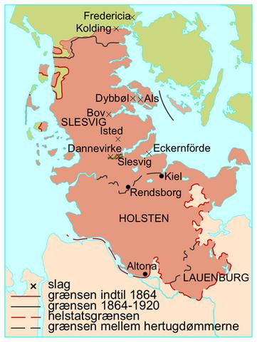 De slesvigske krige timeline | Timetoast timelines