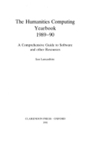 Humanities Computing Yearbook