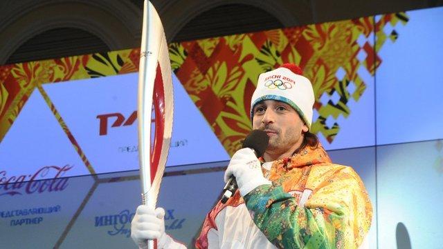 Старт эстафеты Олимпийского огня.