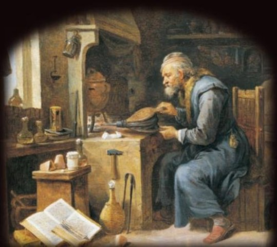 Alchemists in the middle ages