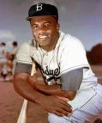 Jackie became the first black on major team