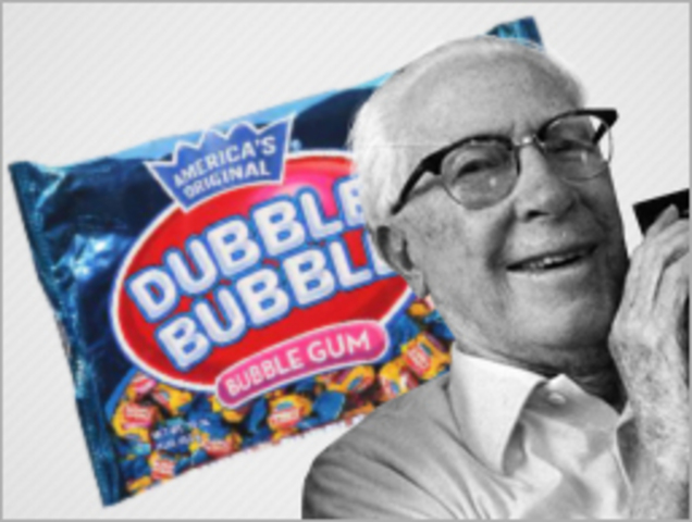 •It was in 1928 that Walter Diemer accidentally invented   double bubble.