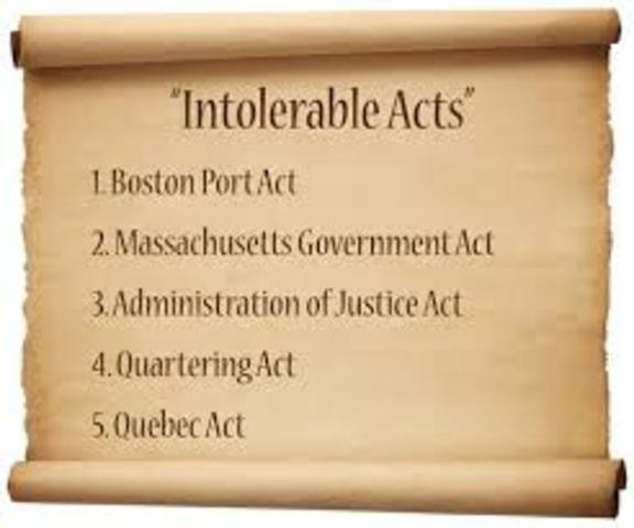 *British Action:Intolerable Acts
