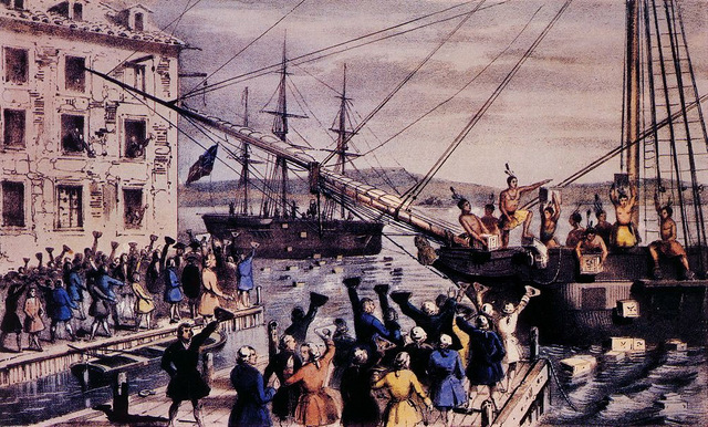 an analysis of the boston tea party as the key event for the revolutionary war The relationship between great britain and the american colonies, already deteriorating after 1763, plunged in 1773 with the boston tea party in.