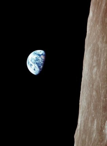 First Photograph of Earth from the Moon
