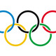 7609833olympic rings on white