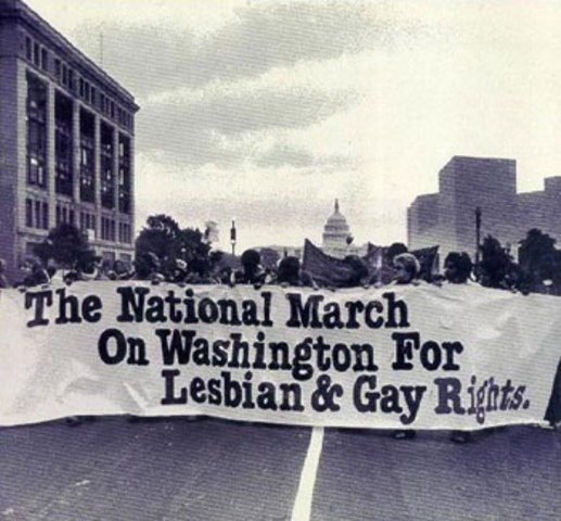 Washington D.C. hosts the National March on Washington for LGBT rightswith an outcome of 75,000 people.