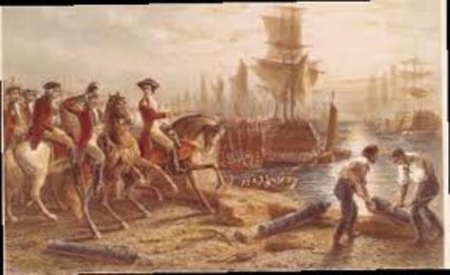 The Biritsh Evacuate Boston