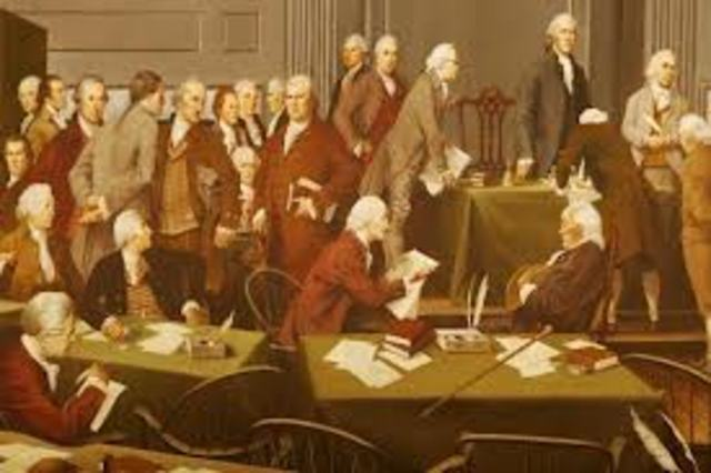 The Declaration Of Independance SIgned