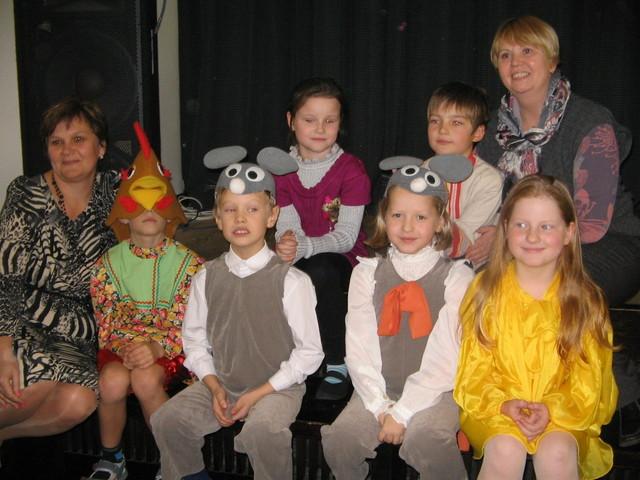 Участие вокальной группы младших классов в Городском фестивале, посвященном Русской сказке