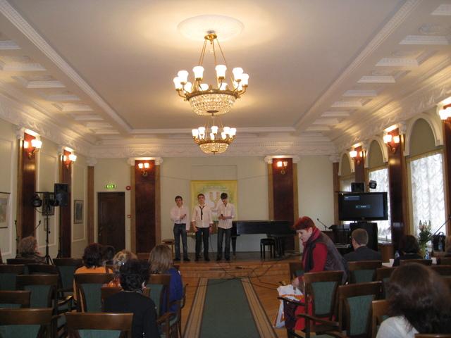 Участие в Международном фестивале-конкурсе трио мальчиков из 8-х классов. 3 место