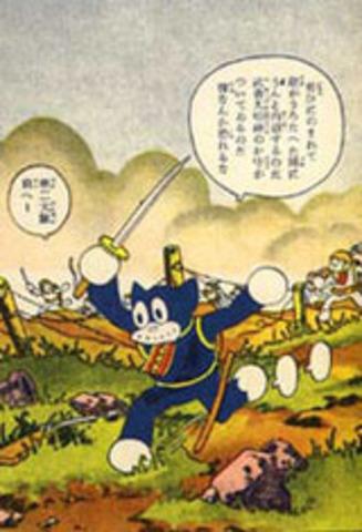 Manga began appearing in Japan