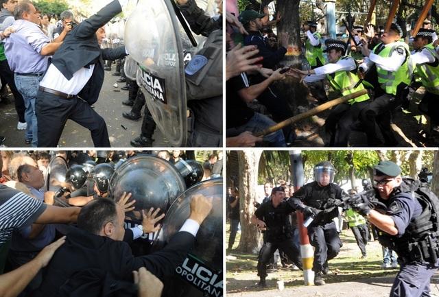 Brutal represión en el Borda
