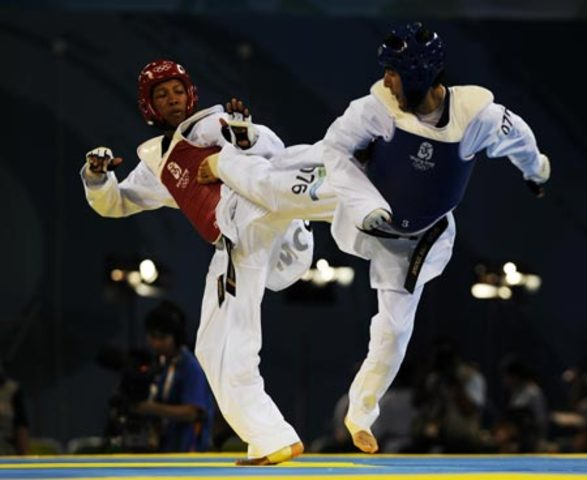 Gold medal sparring and patterns