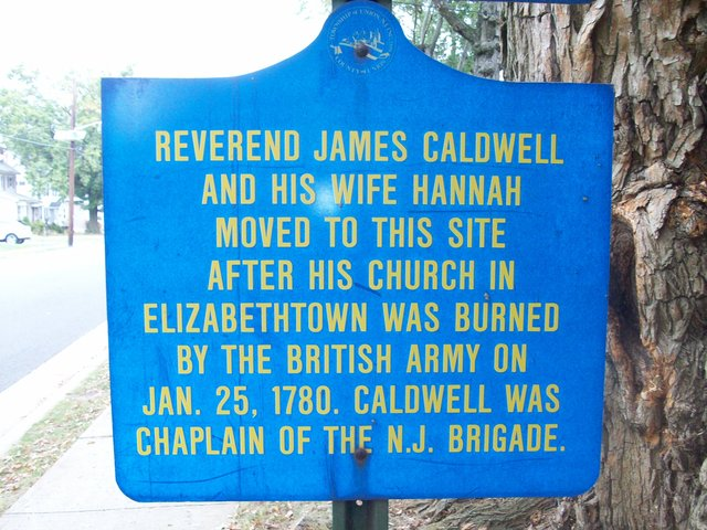 Burning of the Caldwell Parsonage in Elizabethtown