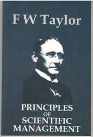 """Publicación de """"The Principles of Scientific Management"""" - Frederick Winslow Taylor"""