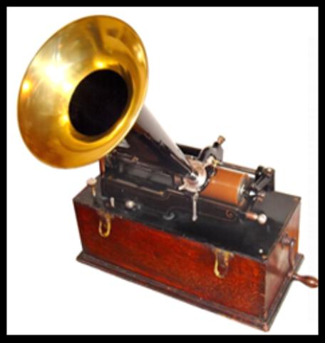 Invención del fonógrafo por Thomas A. Edison