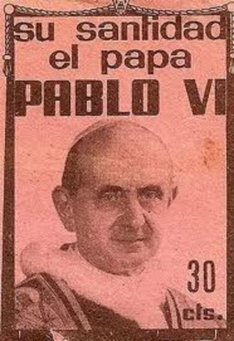 El Papa Pablo VI visita Colombia