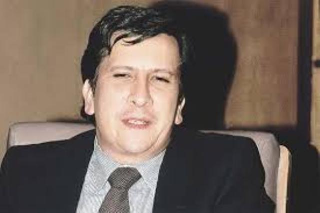 asesinado  el Ministro de Justicia Rodrigo Lara Bonilla