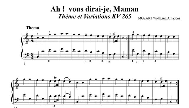 Variacions sobre  KV 265 – Mozart