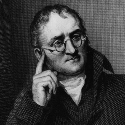 John Dalton discovers the atomic theory of matter.