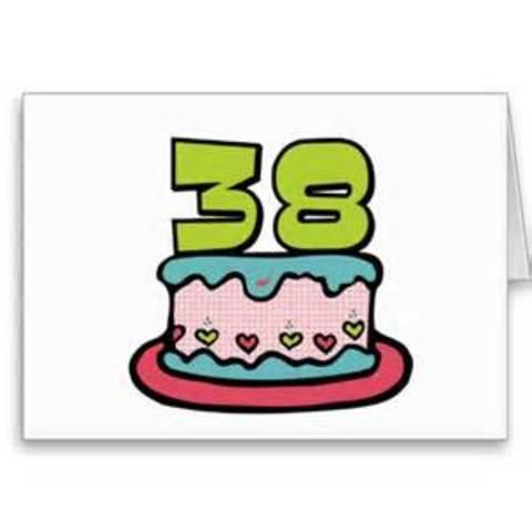 38th. Birthday