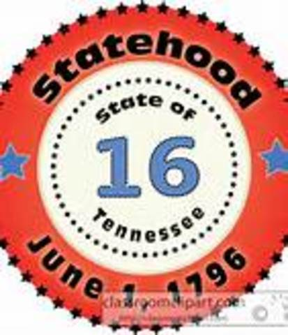 Tennessee was admitted to statehood