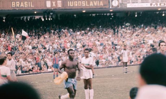Pele played his last international match
