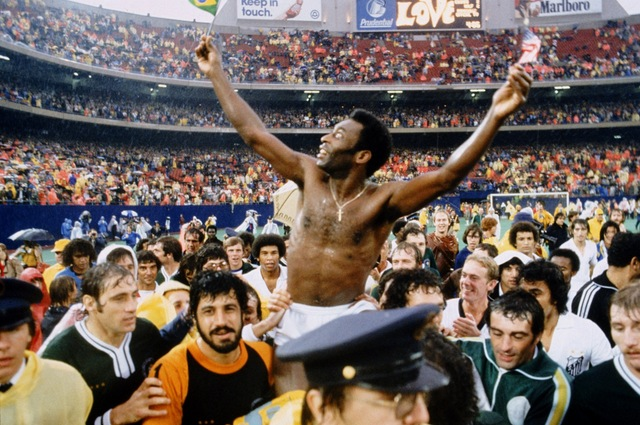 Pele retires from football