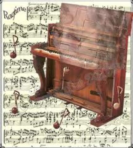 The first ragtime composition printed