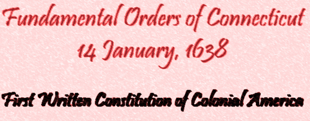 Fundemental Orders of Connecticut