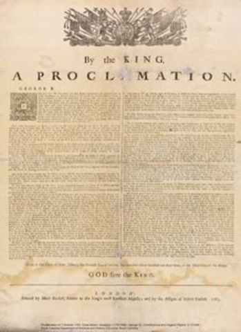 Beginning of the Proclamation of 1763