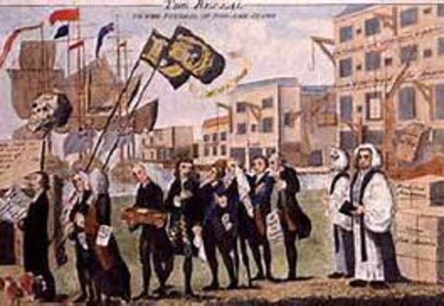 Beginning of the Stamp act